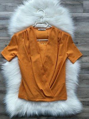Zara Camisa cruzada multicolor