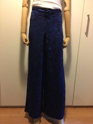 Zara Woman Pantalón anchos azul