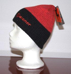 NEU Ziener Mütze Beanie Polycolon rot/schwarz