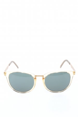 neubau eyewear Panto Glasses gold-colored casual look