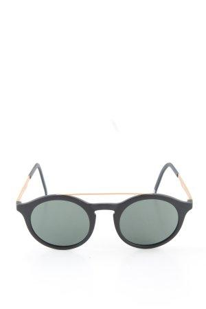 neubau eyewear runde Sonnenbrille schwarz-goldfarben Business-Look