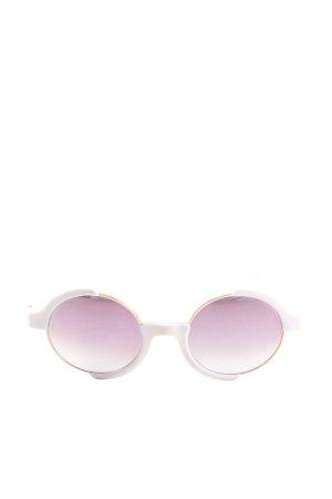 neubau eyewear Occhiale da sole rotondo bianco-lilla