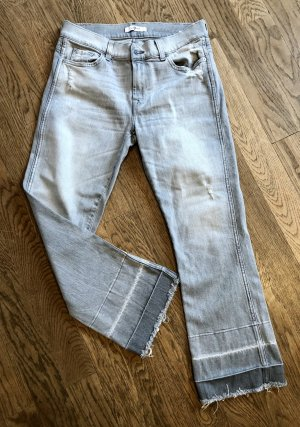 NEUE 7forAllMankind Bootcut Jeans, 26, Used Look,  Cool Grey, 7/8, Fransen
