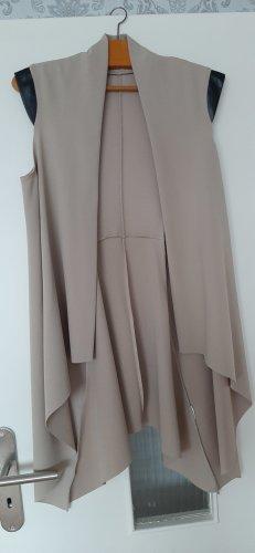 Płaszcz oversize beżowy-czarny