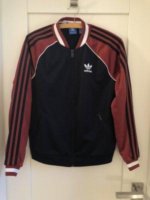 Adidas Chaqueta deportiva azul oscuro-carmín
