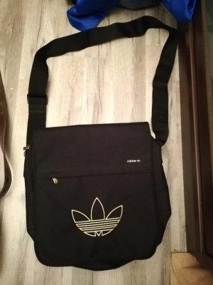 Neue Adidas Umhängetasche schwarz/gold
