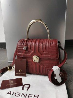 Aigner Handbag carmine-bordeaux leather
