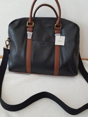 Fossil Briefcase black-brown leather