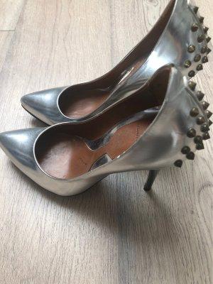 Alexander McQueen High Heels silver-colored