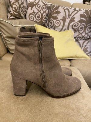 neue Ankle Boots Gr. 41 beige schick