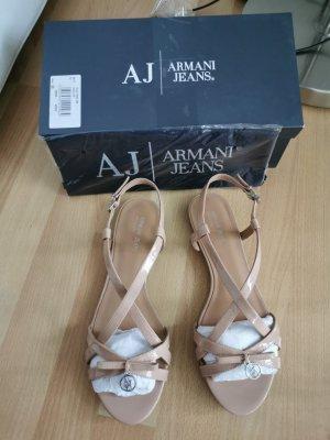 Armani Jeans Dianette sandalen nude Leer