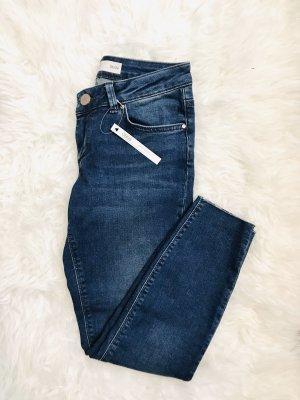 Asos Jeans taille haute bleu