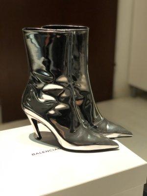 Neue Balenciaga Silver Talon Mirror 80 Ankle Boots