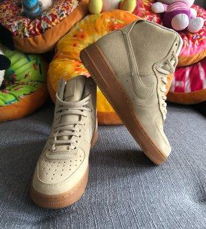 nike air force 1 Basket montante crème-beige