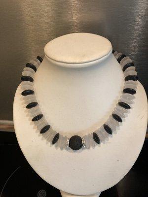 Neue Bergkristall Onyx Kette mit Magnetschliesse