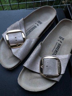 Birkenstock Wygodne sandały beżowy-brąz