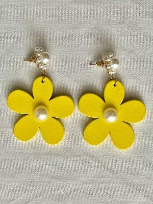 Neue Blumen Ohrringe mit Perlen