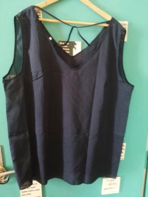 Oversized blouse donkerblauw