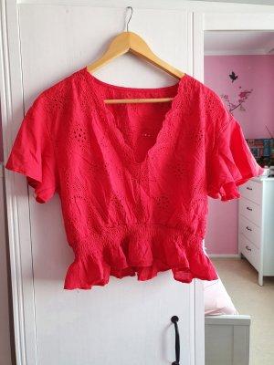 SheIn Top koszulowy czerwony