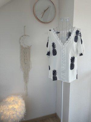 Sheinside Camicetta a maniche corte bianco-nero
