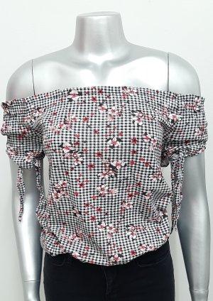 Neue Bluse Gr. XS geblümt Schwarz rot Shirt t-shirt Top