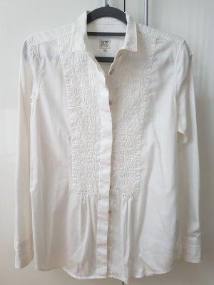 Caliban Camicetta a maniche lunghe bianco Cotone