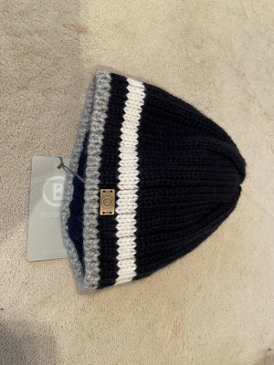 Bogner Fire + Ice Knitted Hat dark blue-white