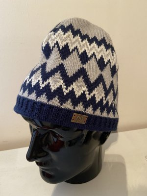 Bogner Fire + Ice Knitted Hat dark blue-light grey