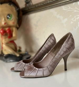 Buffalo Peep Toe Pumps rose-gold-coloured-silver-colored