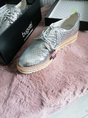 Bugatti Lace Shoes silver-colored