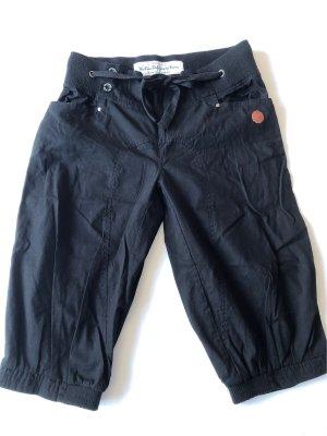The WLD Corp Spodnie Capri czarny Bawełna