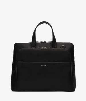 Matt & Nat Briefcase black imitation leather