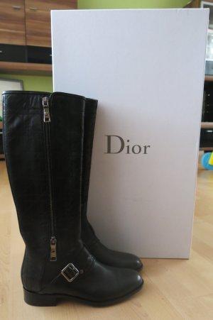 Dior High Boots dark blue leather