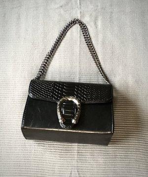 True Vintage Bandolera negro-color plata
