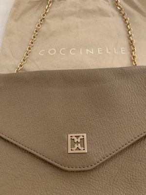 Coccinelle Mini sac gris brun-beige cuir