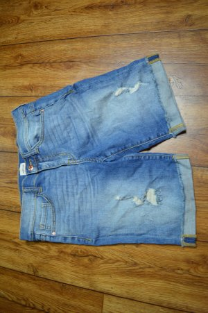 Jeans a 3/4 azzurro-blu acciaio