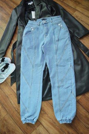 Neue coole Denim Jeans im Joggerstyle blau Fashion Nova 38