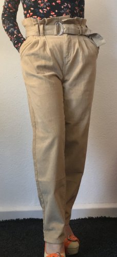 Denim Co. Corduroy Trousers cream cotton