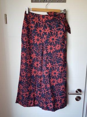 armedangels Pantalone culotte rosso scuro-blu scuro