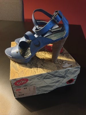 edc Hoge hakken sandalen blauw