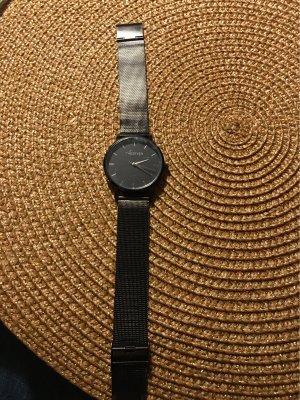 100% Fashion Orologio con cinturino di metallo nero