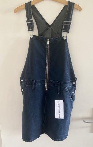 Calvin Klein Jeans Spódnica ogrodniczka ciemnoniebieski
