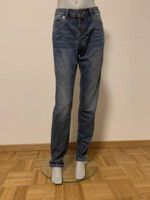 Zero Jeansy ze stretchu niebieski