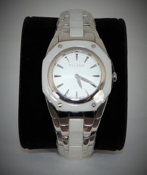 Escada Watch With Metal Strap white-silver-colored