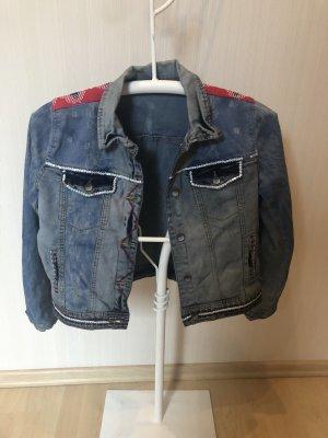 Neue Desigual Jeansjacke Pailletten ausgefallen