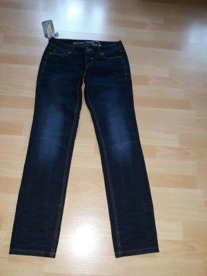 Tom Tailor Denim Slim jeans donkerblauw Katoen