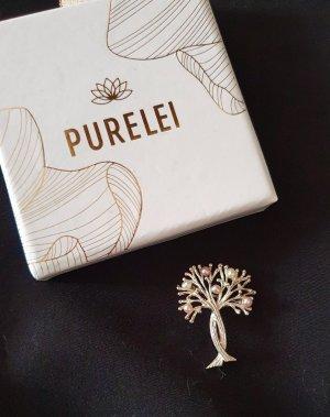 Neue Echtschmuck Brosche mit Perlen