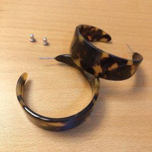 COS Zarcillo coñac-marrón-negro