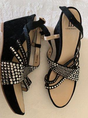 Isabel Licardi Platform High-Heeled Sandal black leather