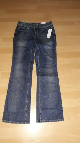 Edc Esprit Boot Cut Jeans dark blue cotton